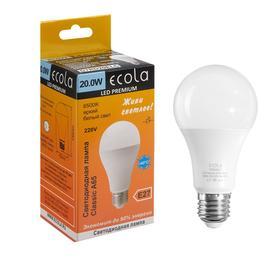 Лампа светодиодная Ecola classic Premium, А65, 20 Вт, Е27, 6500 К, 220 В, 130х65 мм