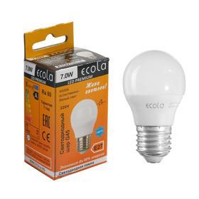 "Лампа светодиодная Ecola globe Premium ""шар"", G45, 7 Вт, Е27, 4000 К, 220 В, 82х45 мм"
