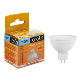 Lamp LED Ecola MR16, 7 W, GU5.3, 6000 K, 220 V, 48x50 mm, matte