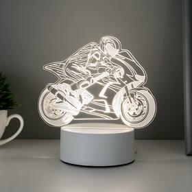 "Светильник ""Мотоциклист"" LED RGB от сети 9,5х15,5х16,5 см"