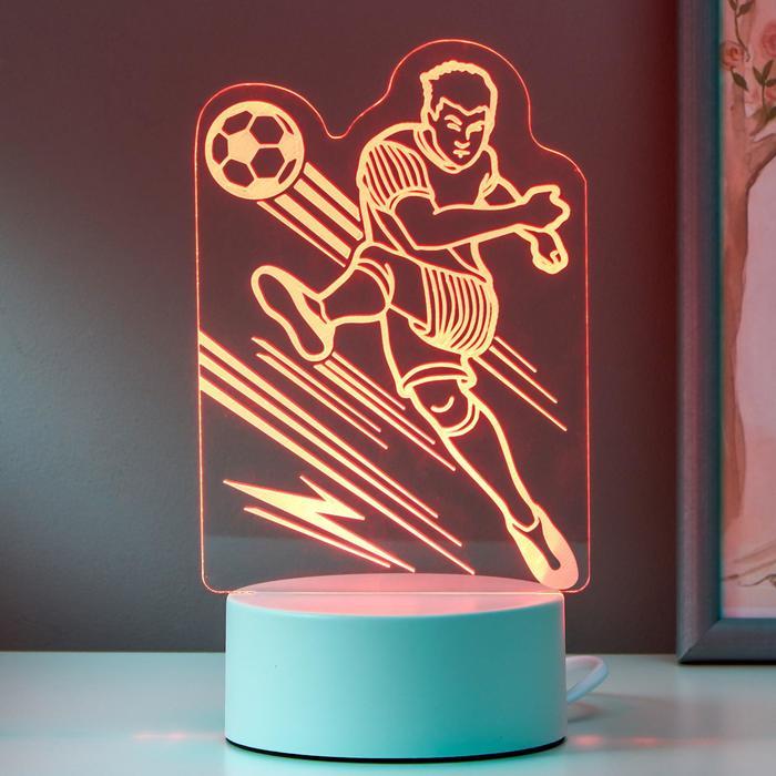 "Светильник ""Футболист"" LED RGB от сети 9,5х11х20,5 см"