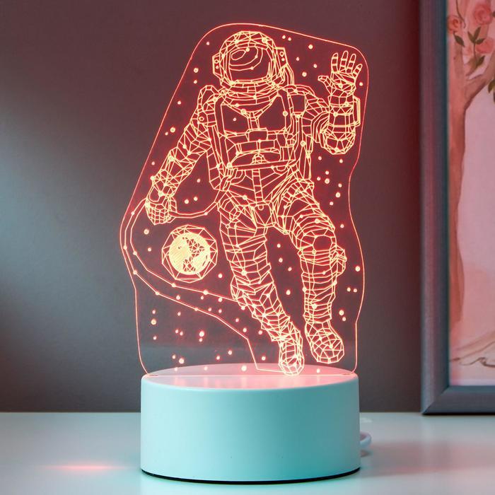 "Светильник ""Космонавт"" LED RGB от сети 9,5х10х21 см"