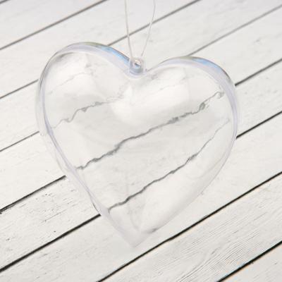 "Blank-pendant, separate parts ""Heart"", assembled size: 8×8×3 cm"