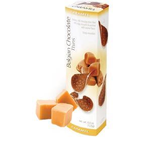 Шоколадные чипсы Belgian Chocolate Thins Caramel, 80 г