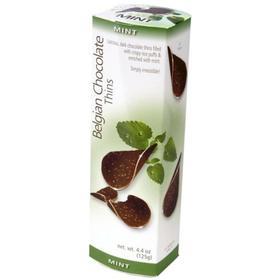 Шоколадные чипсы Belgian Chocolate Thins Mint, 80 г