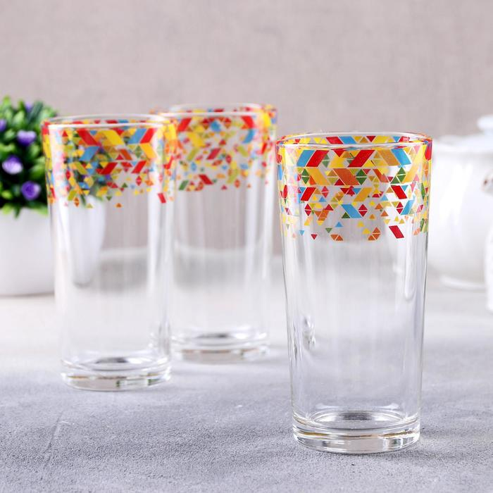 Набор стаканов «Абстракция», 230 мл, 3 шт - фото 721869