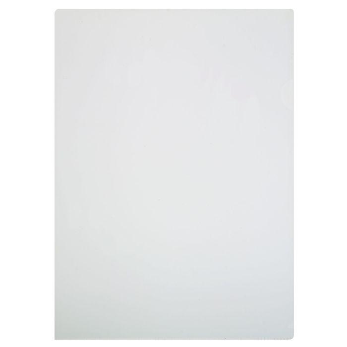 Папка-уголок A4, 100мкм прозрачная, тиснение