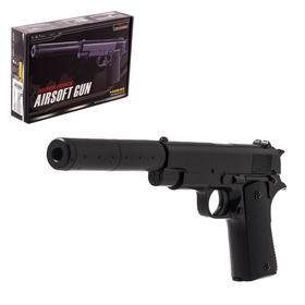 Пистолет Beretta, с глушителем, с металлическими элементами