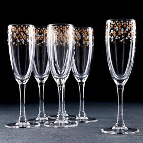 {{photo.Alt    photo.Description    'Набор бокалов для шампанского «Абстракция золото-серебро», 170 мл, 6 шт, в подарочной упаковке'}}