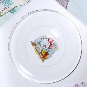 Тарелка «Весёлые зверюшки. Котёнок», d=19,5 см