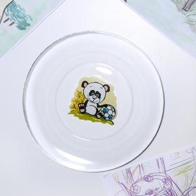 Тарелка «Весёлые зверюшки. Панда», d=19,5 см