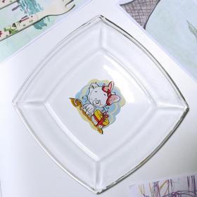 Тарелка «Весёлые зверюшки. Котёнок», 19,5×19,5 см