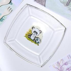 Тарелка «Весёлые зверюшки. Панда», 19,5×19,5 см