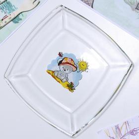 Тарелка «Весёлые зверюшки. Коала», 19,5×19,5 см