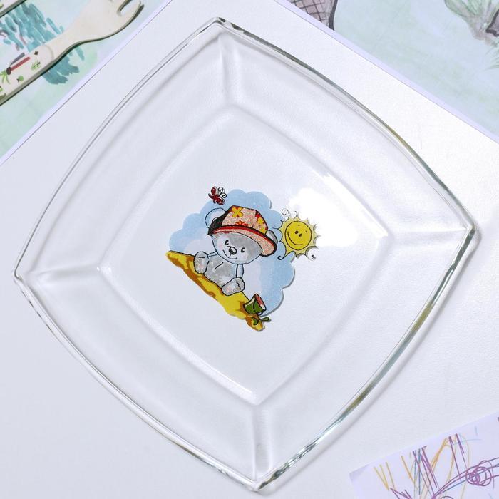 Тарелка «Весёлые зверюшки. Коала», 19,5×19,5 см - фото 497637