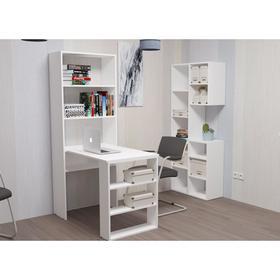 Компьютерный стол со стеллажем Элемент-3  Белый