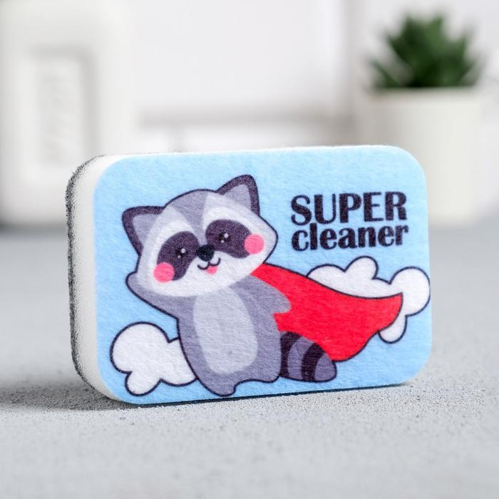 Губка для мытья посуды Super cleaner 9х6 см