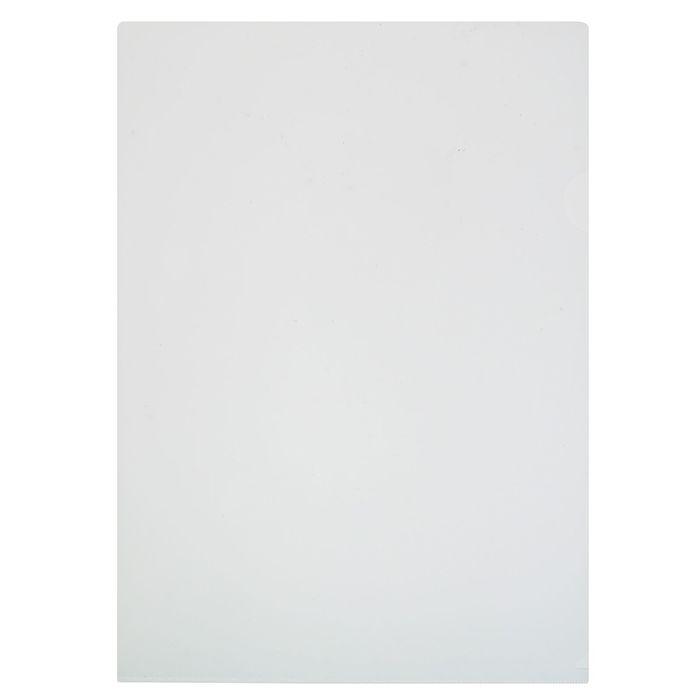 Папка-уголок A4, 180 мкм прозрачная, глянцевая, плотная