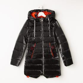 Куртка для девочки, цвет чёрный, рост 140 см