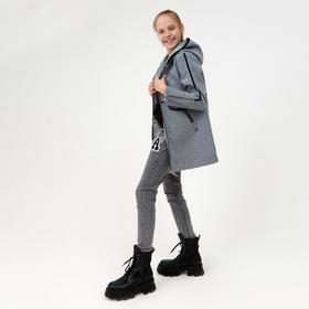 Пальто для девочки, цвет серый, рост 140 см