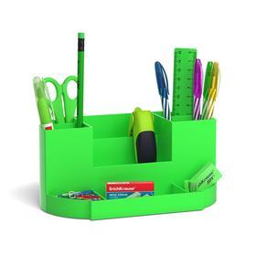 Набор настольный канцелярский 13 предметов ErichKrause Victoria, Neon Solid, зеленый