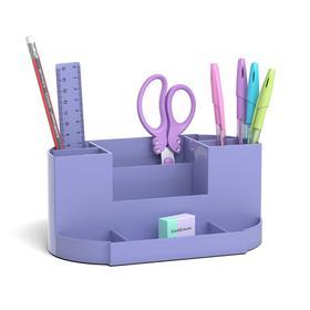 Набор настольный канцелярский 8 предметов ErichKrause Victoria, Pastel, фиолетовый