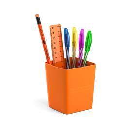 Набор настольный канцелярский 6 предметов ErichKrause Base, Neon Solid, оранжевый