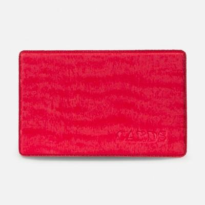 Travel ticket case, 9.5*0.1*6cm velour, red