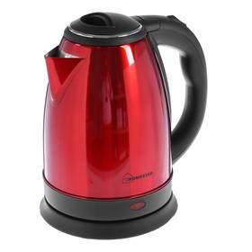 Чайник электрический HOMESTAR HS-1010, металл, 1.8 л, 1500 Вт, красный