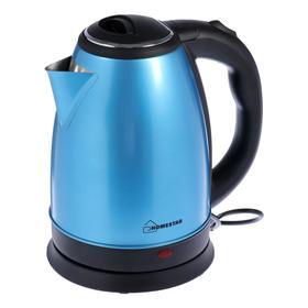 Чайник электрический HOMESTAR HS-1010, металл, 1.8 л, 1500 Вт, синий
