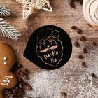 """Stencil for coffee """"Santa Claus"""", 9,5 × 8,5 cm"""