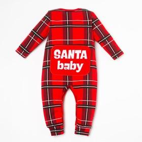 """Комбинезон Крошка Я """"Santa baby"""", рост 62-68 см, красный"""