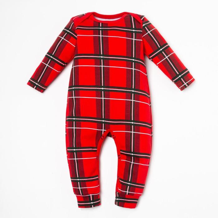 """Комбинезон Крошка Я """"Santa baby"""", рост 68-74 см, красный - фото 76608412"""