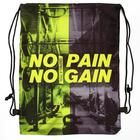 """Shoe bag with rope handles """"No pain"""", 32 x 42 cm"""