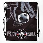 """Shoe bag with rope handles """"Football"""", 32 x 42 cm"""