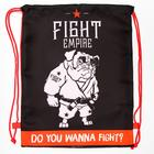 """Shoe bag with rope handles """"Fight"""", 32 x 42 cm"""