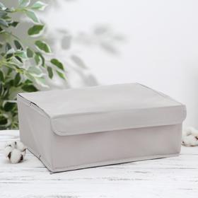 Органайзер для белья с крышкой «Тея», 13 ячеек , 32,5×24×12 см, цвет серый - фото 4640849