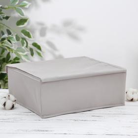 Органайзер для белья с крышкой «Тея», 13 ячеек , 32,5×24×12 см, цвет серый - фото 4640851