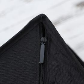 Органайзер для белья с крышкой «Тея», 13 ячеек, 32,5×24×12 см, цвет чёрный - фото 4640847