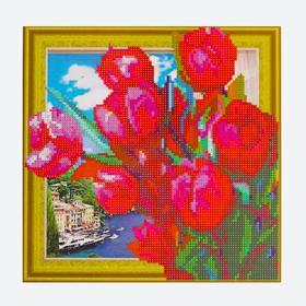 Алмазная картина «Букет тюльпанов»