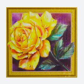 Алмазная картина «Золотая роза»