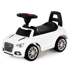Каталка-автомобиль SuperCar №2 со звуковым сигналом, цвет белый