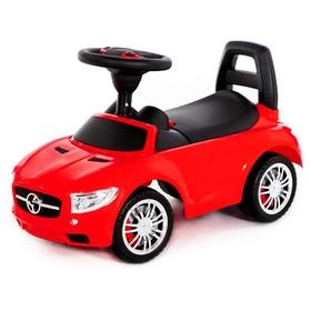 Каталка-автомобиль SuperCar №1 со звуковым сигналом, цвет красный