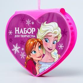 Набор для творчества Эльза и Анна  в форме сердца, 41 предмет