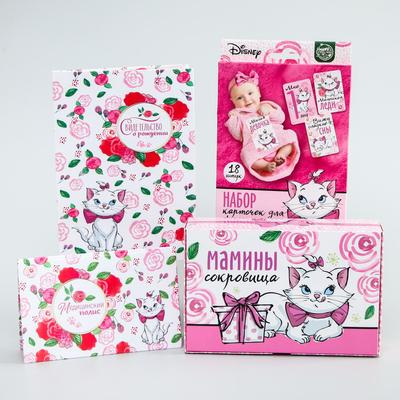 """Gift set for the birth of a child """"Our girl"""", cats aristocrats"""