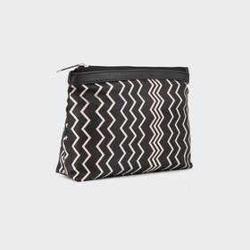 Cosmetic bag simple 30160, 20*5*13, zippered otd, black