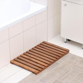 Решётка в ванную комнату под ноги 70×42×3 см, сосна с покрытием