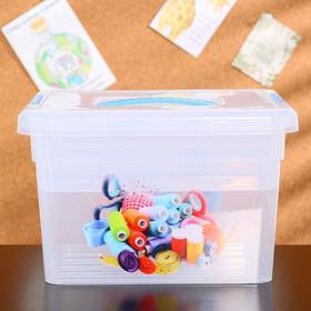 Контейнер-органайзер с крышкой FunBox «Хобби», 5 л, 25×20×16 см, лоток органайзер S, цвет прозрачный