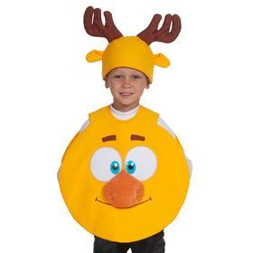Карнавальный костюм «Лосяш», накидка, шапочка, р. 26-30, рост 92-116 см