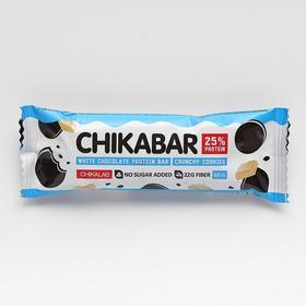 Батончик в шоколаде, CHIKALAB, Хрустящее печенье, 60 г